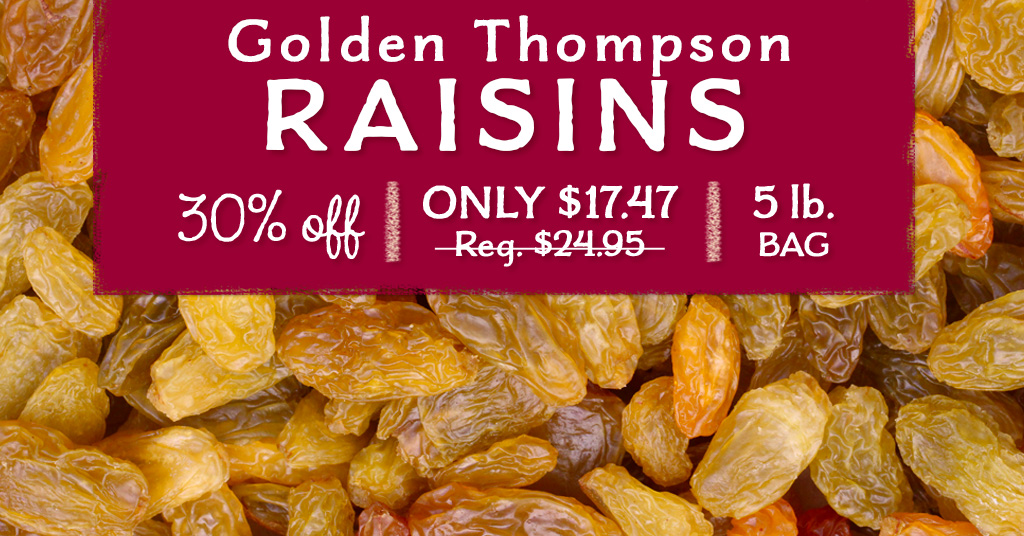 Golden Thompson Raisins