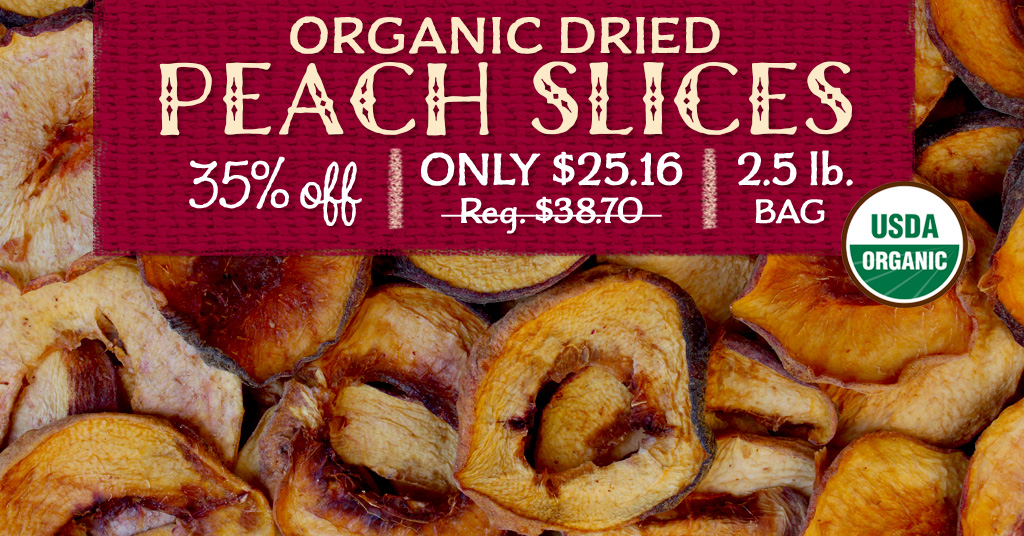 Organic Dried Peaches Special
