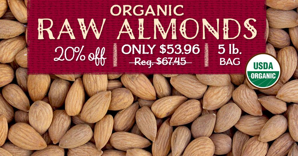 Organic Raw Almonds Special