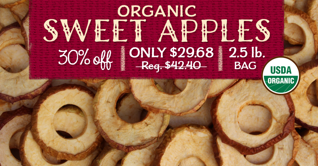 Dried Organic Sweet Apples Special