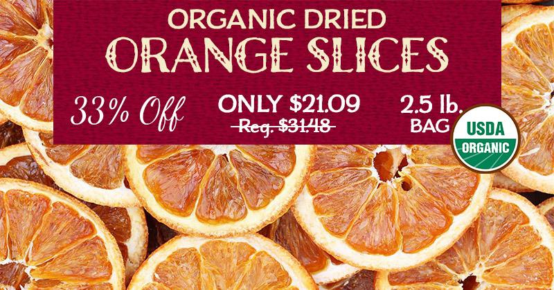 Organic Orance Slices